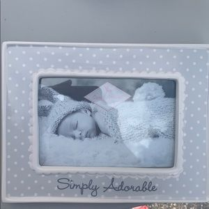 Simply Adorable gray and ivory picture frame